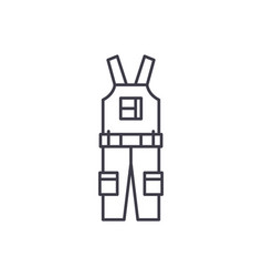 Construction overalls line icon concept vector