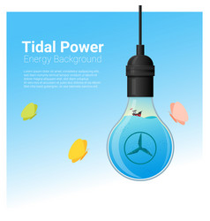 energy concept background with tidal energy vector image