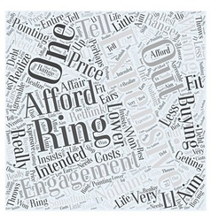 Expensive engagement ring Word Cloud Concept vector