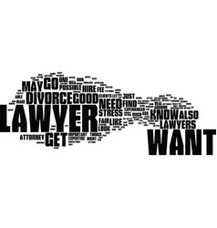 Find an attorny text background word cloud concept vector