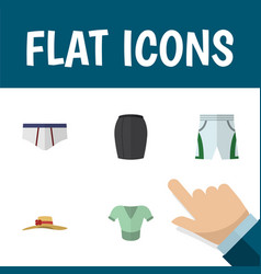flat icon clothes set of stylish apparel casual vector image