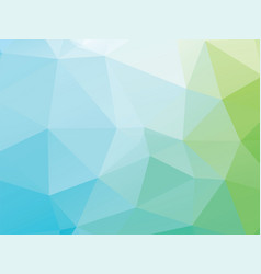 geometric green blue low poly background vector image