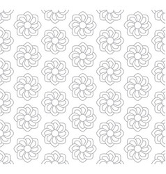 gray floral pattern seamless for backdrop vector image