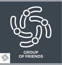 group friends vector image
