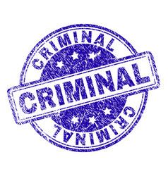 Grunge textured criminal stamp seal vector