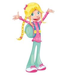 Happy student vector image