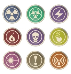 Hazard Sign Icons vector image