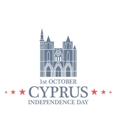 Independence Day Cyprus vector image vector image