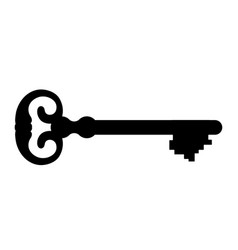 Key silhouette on white background vector