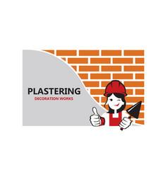 lady plasterer background vector image