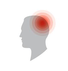 medical icon headache pain in head migraine vector image