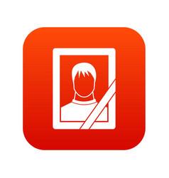 Memory portrait icon digital red vector