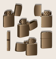 metal windproof lighter vector image