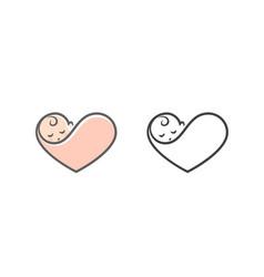 newborn logo vector image