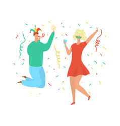 party dance people birthday celebration young vector image