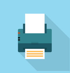 printer icon set of great flat icons with style vector image