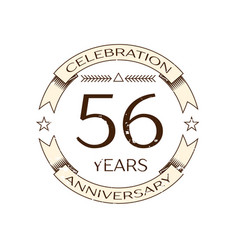 Realistic fifty six years anniversary celebration vector