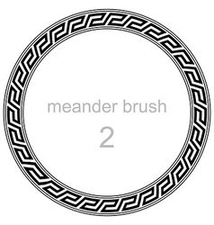 Roman meander pattern vector