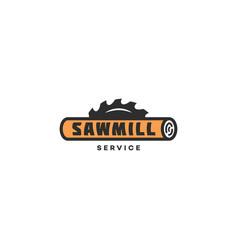 sawmill service logo vector image