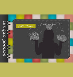 school album smile vector image