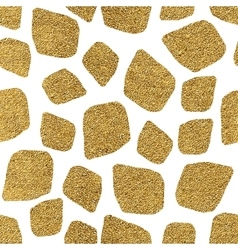 Seamless background of golden mosaic spots vector