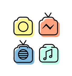 Set linear icons 06 vector