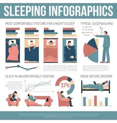 Sleeping Infographics Layout vector