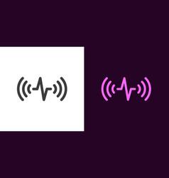 Sound wave voice sound assistant vector
