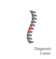 spine logo diagnostic center on a white background vector image