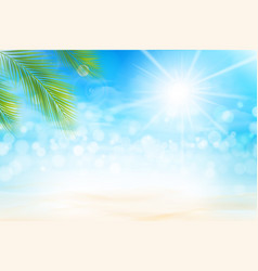 Summer abstract background bokeh and ligting vector