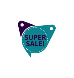 super sale tag template isolated vector image