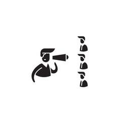 Teambuilding black concept icon vector