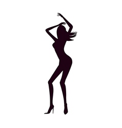The silhouette of waman vector
