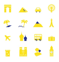 travel vacation and landmarks icons vector image