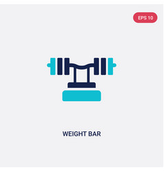Two color weight bar icon from gym and fitness vector