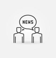 two people and news concept icon in thin vector image