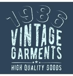 Vintage garments stamp vector image