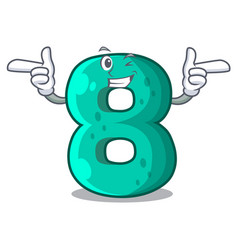 Wink number house eight the shaped character vector