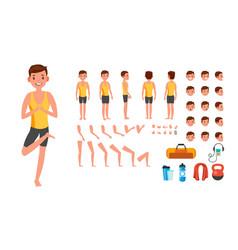 yoga man prenatal yoga animated character vector image
