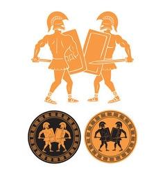 Battle of gladiators vector