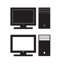 computer desktop icon pc flat sign vector image vector image