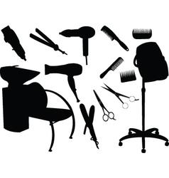 hair equipment vector image