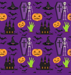 halloween seamless pattern scary repeating vector image