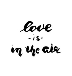love is in the air postcard vector image vector image