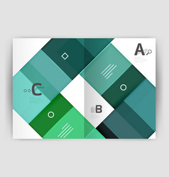 modern geometrical a4 flyer brochure vector image vector image