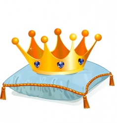 queens crown on the pillow vector image vector image