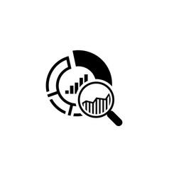 small data icon flat design vector image vector image