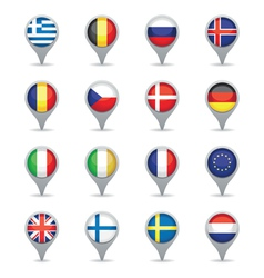 european flag pointers vector image