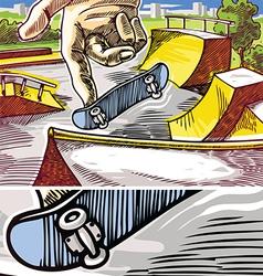 Fingerboarding vector image