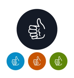 Icon hand giving thumbs up vector image